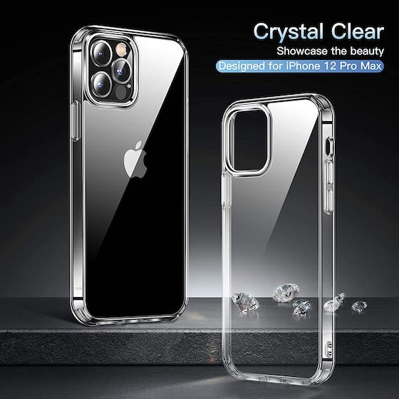 CASEKOO Crystal Clear Compatible with iPhone 12 Pro Max Case