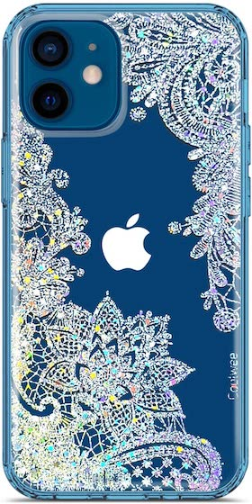 Coolwee Clear Glitter Compatible with iPhone 12 Mini Case