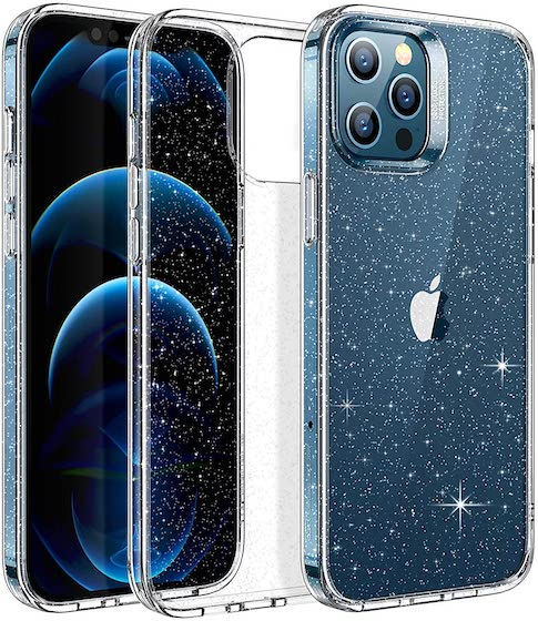 ESR Clear Glitter Case Compatible with iPhone 12 Pro Max