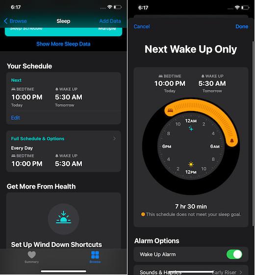 Edit sleep tracker