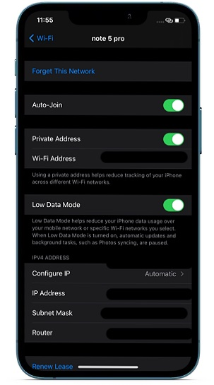 Enable private Address