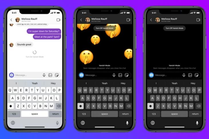 Facebook Rolling out Vanish Mode on Instagram and Messenger