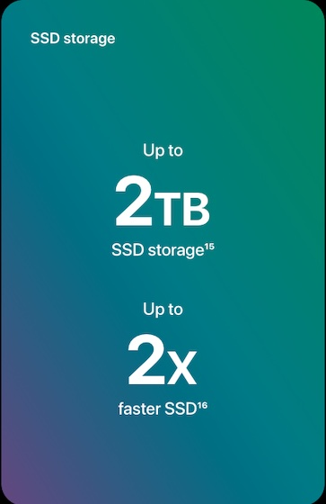 Faster SSD