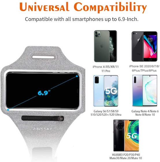 Guzack Water Resistant Cell Phone Running Armband