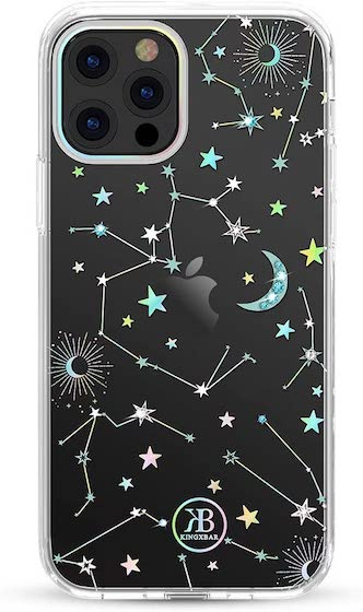 KINGXBAR Holographic Floral Case Compatible with Apple iPhone 12 Pro Max
