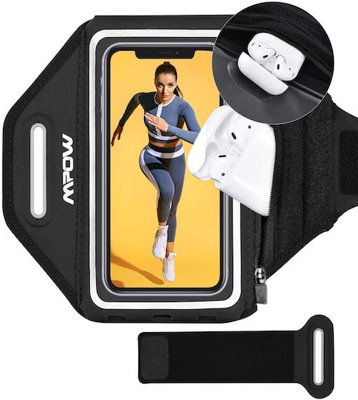 Mpow Phone Armband, Running Armband with Extra Space AirPods:Key Holder for iPhone 12 Pro