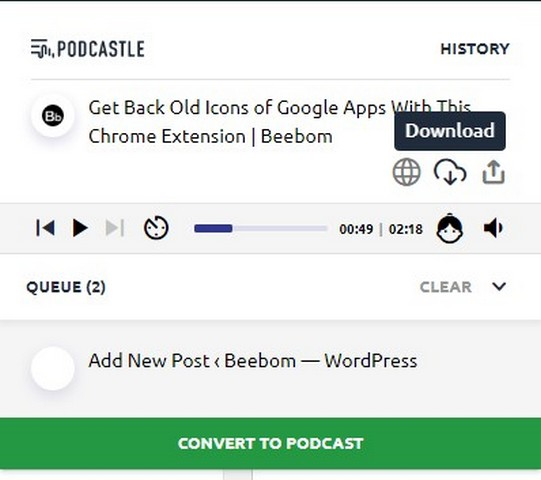 Podcastle text to podcast converter 3