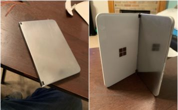 Redditor replaced Surface duo glass panel feat.