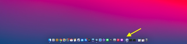 Resized Dock on macOS