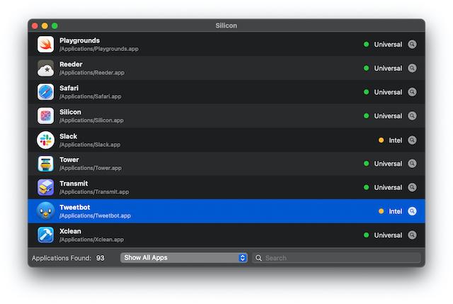 Rosetta 2 running app