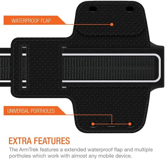 Trianium Armband, Water Resistant Large Cell Phone Armband for iPhone