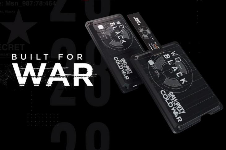 WD call of duty themed hard drive feat.