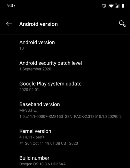 Google Play System Update on Android