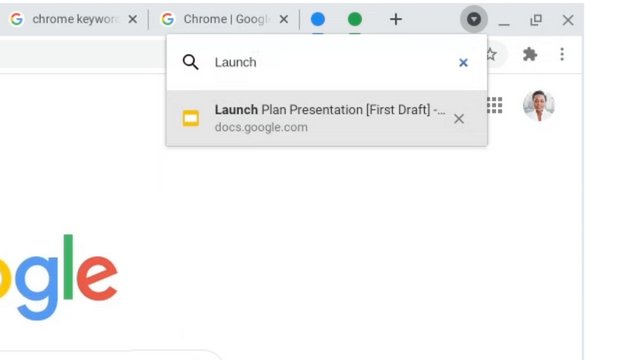 chrome tab search