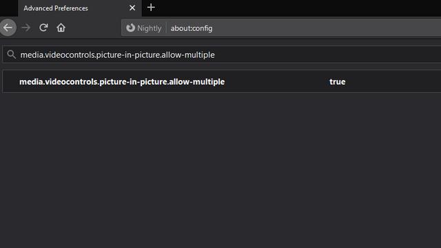 enable multiple pip firefox