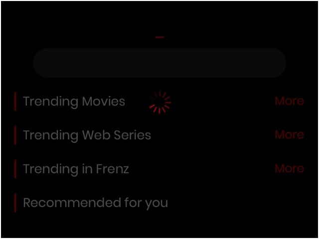 frenzi OTT content recommending app ss 1