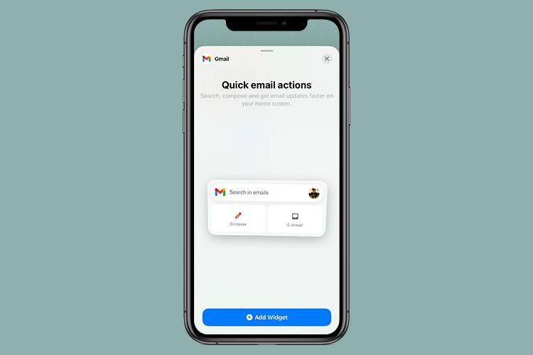 email widget ios 14