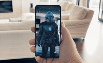 google and disney partner - the mandalorian AR app