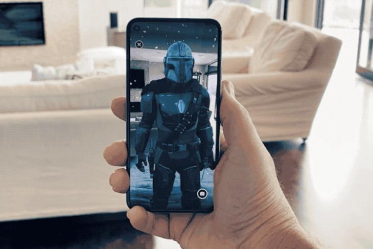 google and disney partner - the mandalorian AR app