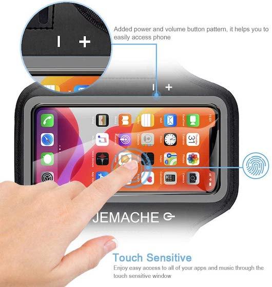 iPhone 12, 12 Pro, 11 Pro, X, XS Armband, JEMACHE