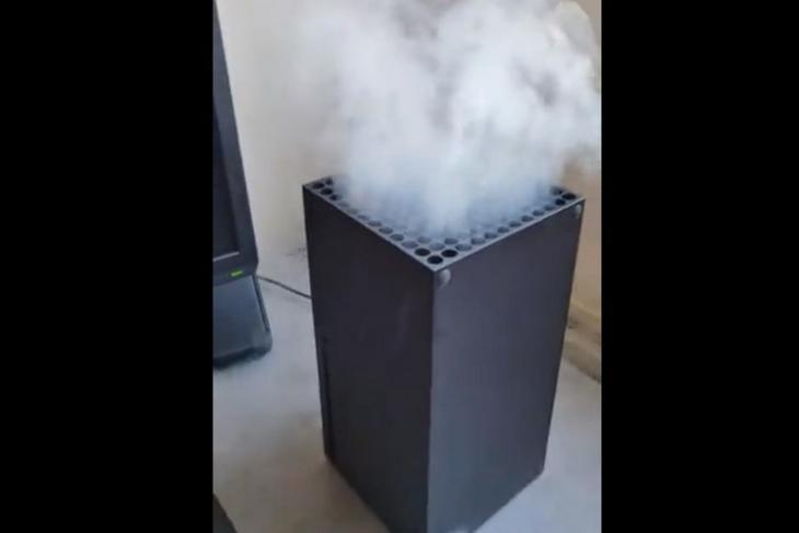 microsoft asks users not blow vape smoke into Xbox Series X