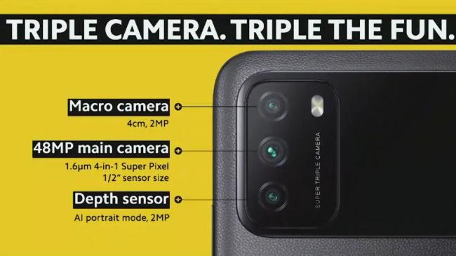 poco m3 camera