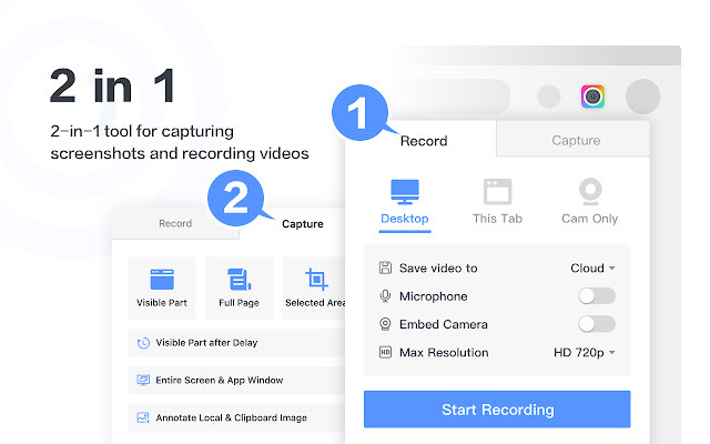 Awesome Screenshot & Screen Recorder screen recording Chrome extensions