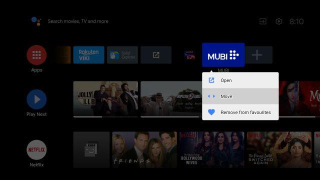 Personaliza la pantalla de inicio de tu Android TV