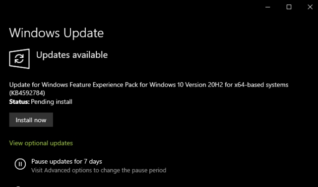 Install Windows 10's New Feature Experience Pack