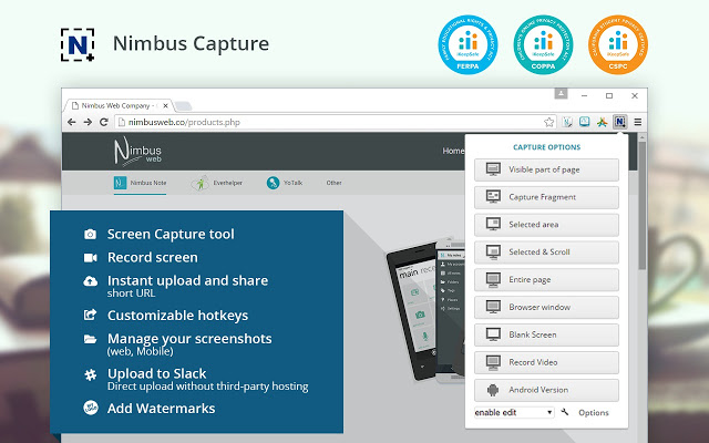 Nimbus best screen recording Chrome extensions