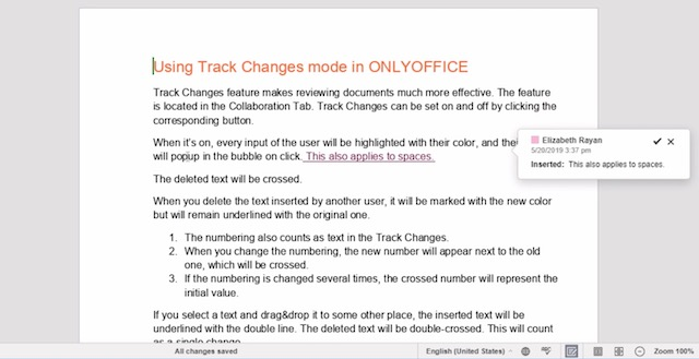 3. Track Changes