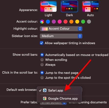 Cambiar la aplicación de navegador predeterminada en Mac