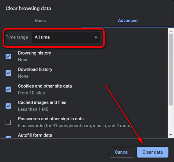 Clear Browsing Data on Chrome using keyboard shortcut