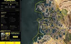 Cyberpunk 2077 interactive map