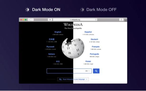 Dark Mode Safari extension