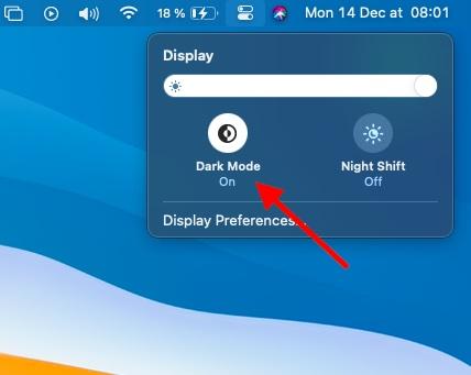 Modo oscuro en Mac
