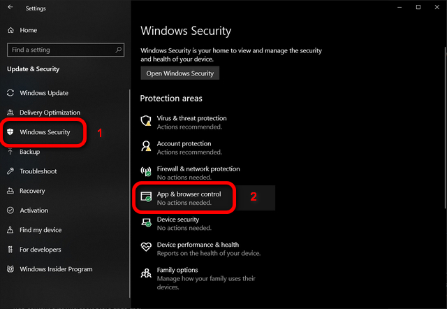 Windows 10 App and Browser Control