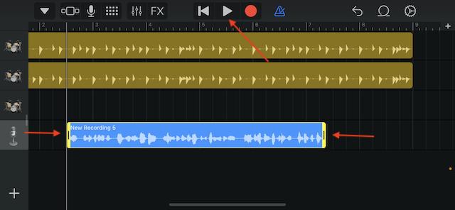 Fine tune your recording