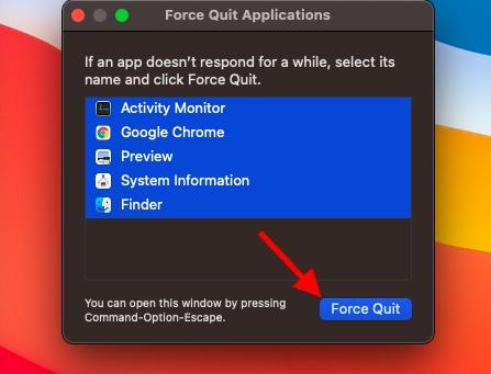 Forzar el cierre de aplicaciones en macOS