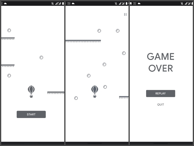 Google hot air balloon game for play store