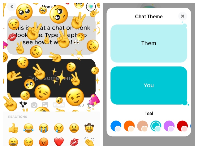 Honk messaging app for real time conversations