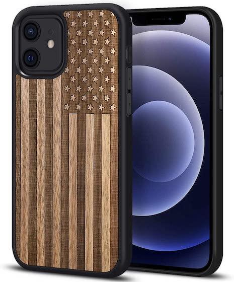 JUBECO iPhone 12 Pro/12 Case Wood