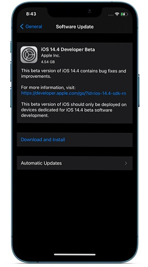 Update Software on iPhone