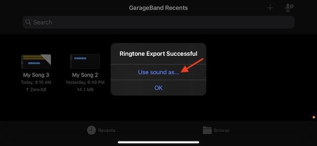 Use Sound As