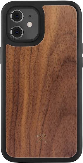 Woodcessories - Real Walnut Case Compatible with iPhone 12 Mini
