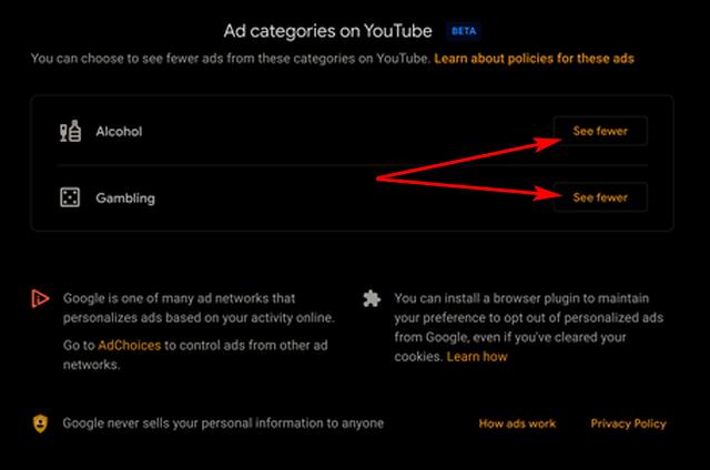 YouTube'da Alkol ve Kumar Reklamlarını Durdurun