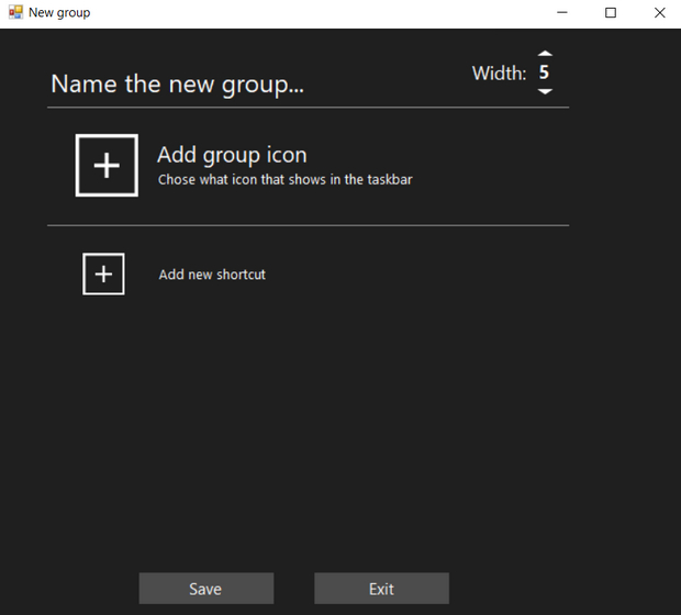 add group icon and shortcuts