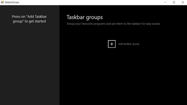 add taskbar group