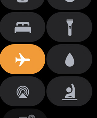 enable airplane mode apple watch