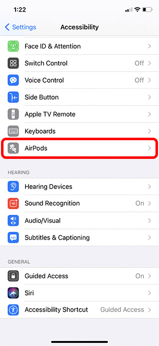 airpods accessibility settings